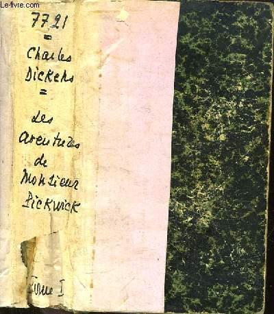 Aventures de Monsieur Pickwick. TOME 1