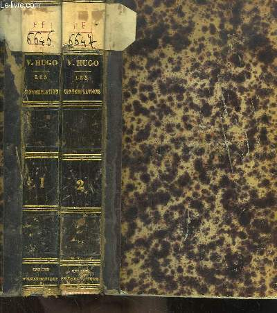 Les Contemplations. EN 2 TOMES : Autrefois, 1830 - 1843 - Aujourd'hui, 1843 - 1855