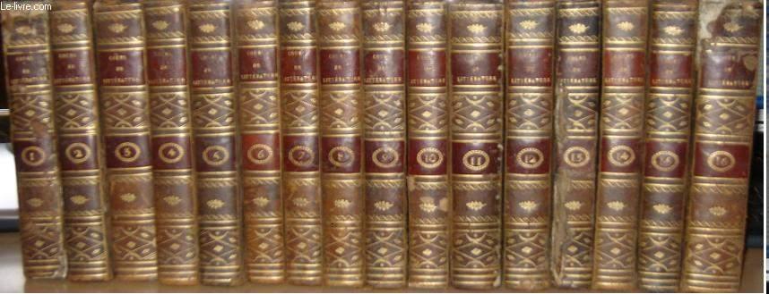 Lycée, ou Cours de Littérature ancienne et moderne. COMPLET EN 16 VOLUMES.