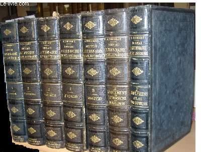 Nouveau Dictionnaire Encyclopédique Universel Illustré. EN 7 VOLUMES (5 Tomes + un Supplément et Dictionnaire de Biographie + Un Atlas et notices géographiques complémentaires.