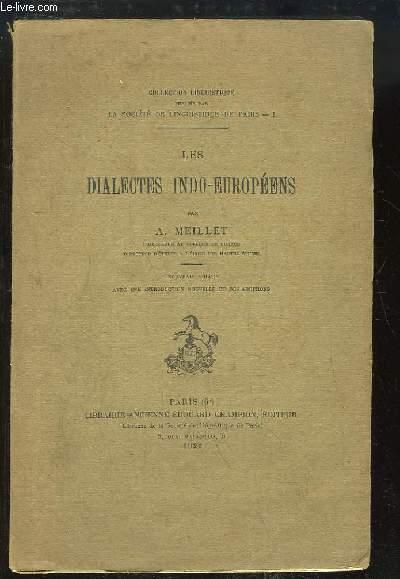 Les dialectes indo-européens.