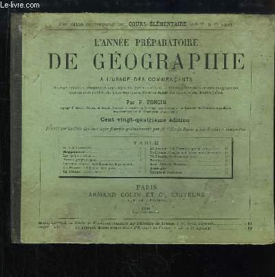 L'Année Préparatoire de Géographie. Cours élémentaire (de 7 à 9 ans).