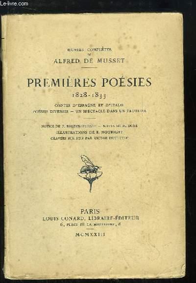 Oeuvres Complètes de Alfred de Musset. Premières Poésies, 1828 - 1833. Contes d'Espagne et d'Italie, Poésies diverses, Un spectacle dans un fauteuil.