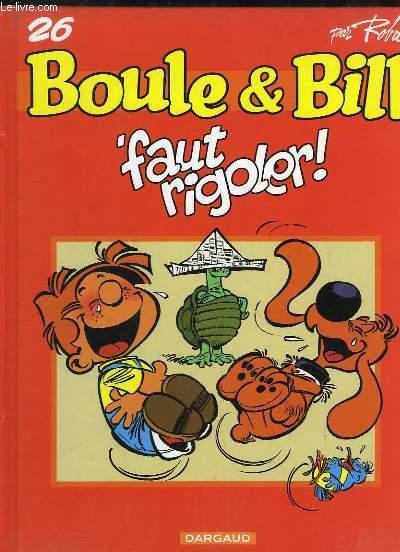 Boule & Bill, N°26 : Faut rigoler !