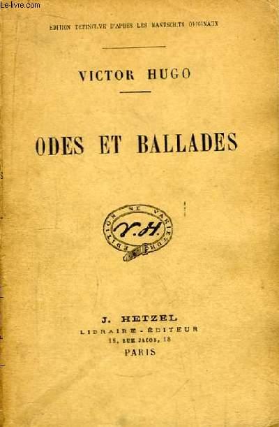 Odes et Ballades.