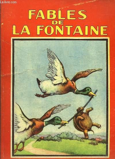 Fables de La Fontaine, avec de nombreuses illustrations.