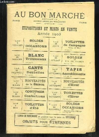 Agenda Au Bon Marché, 1903