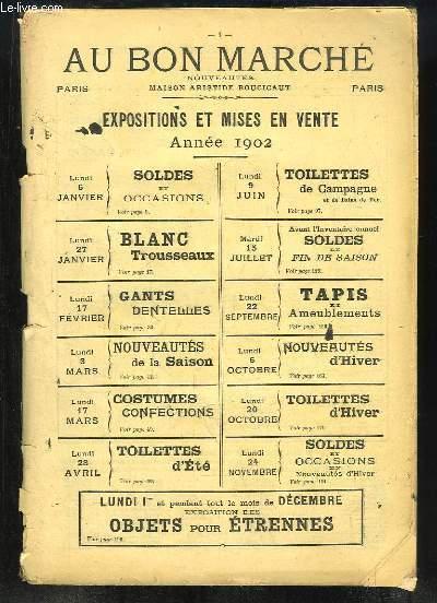 Agenda Au Bon Marché, 1902