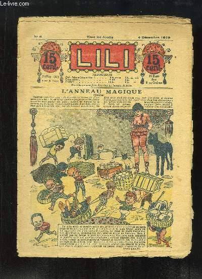 Lili N°6 : L'Anneau Magique (suite) - Berthe et sa bicyclette, par H. GONNEL - La Ronde des Papillons (partition), paroles et musique de X. PRIVAS ...