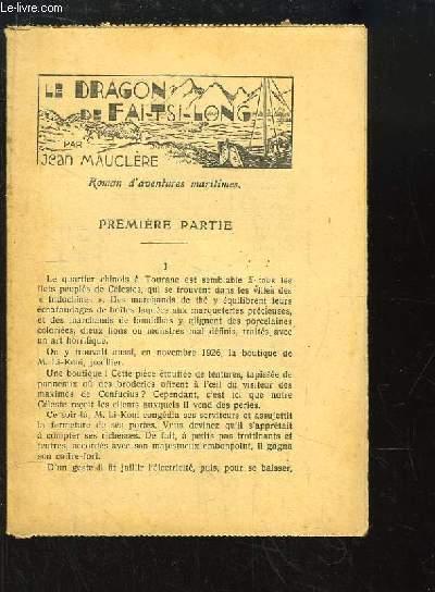 Le Dragon de Fai-Tsi-Long. Roman d'Aventures Maritimes.