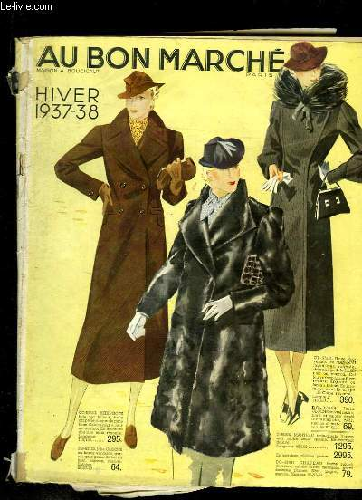 Catalogue Au Bon Marché, Hiver 1937 / 1938