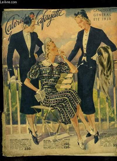 Catalogue général des Galeries Lafayette, été 1938