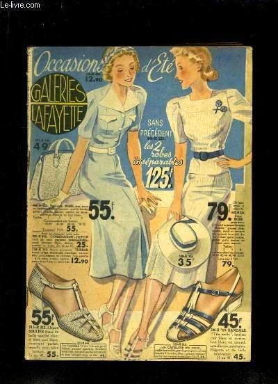 Catalogue Occasions d'Eté 1938, des Galeries Lafayette