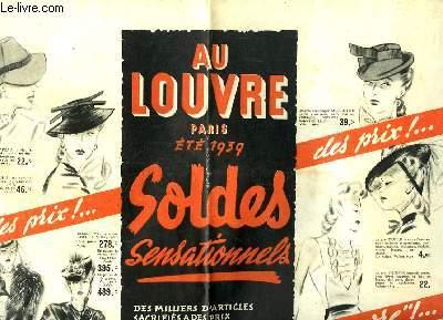 Fascicule publicitaire, de l'Eté 1939, de l'enseigne