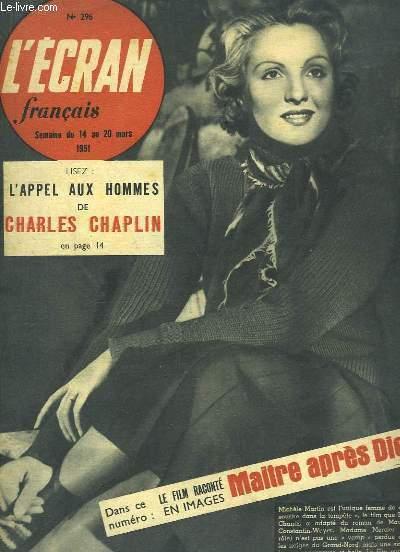 L'Ecran Français, n°296 : L'Appel aux Hommes de Charles CHAPLIN - Maitre après Dieu