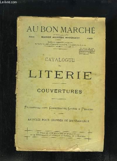 Catalogue de Literie. Couvertures. Fournitures pour communautés, lycées  pensions.