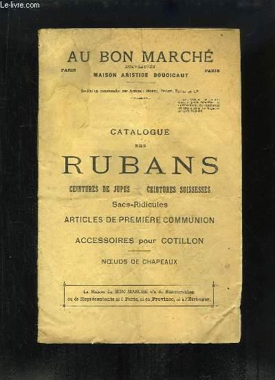 Catalogue des Rubans, Ceintures de jupes, ceintures suissesses, Sacs-Ridicules, Articles de première communion, accessoires pour cotillon, Noeuds de chapeaux.