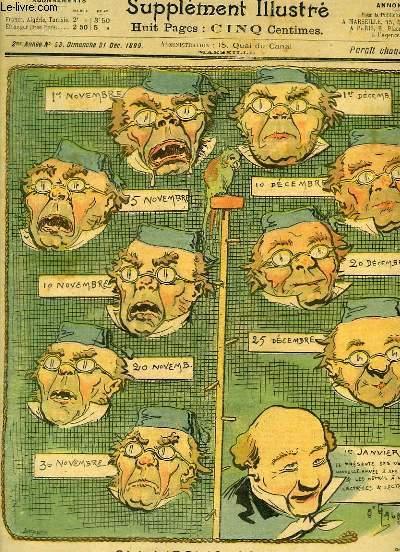 Le Petit Marseillais, supplément illustré N°53 - 2ème année : Calendrier pour tous, par O'GALOP - Le Moine, par DATIN - Quelques Combles, par Arthur PERRIER