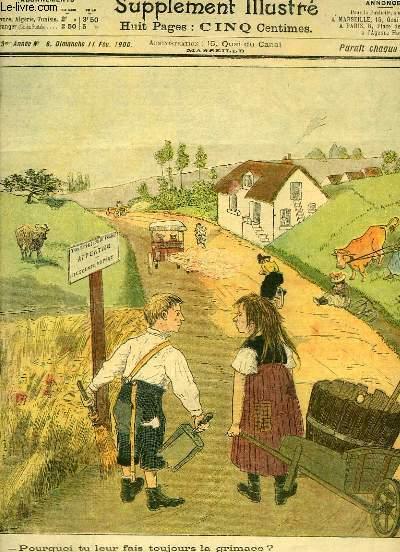 Le Petit Marseillais, supplément illustré N°6 - 3ème année : Compositions de A. SOREL et O'GALOP