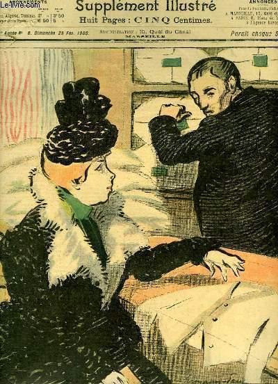 Le Petit Marseillais, supplément illustré N°8 - 3ème année : Charité bein ordonnée, par Hermann PAUL - Simplice et Barnavé, par CIM - Dépêche Philatélique, par Emile COHLZ ...