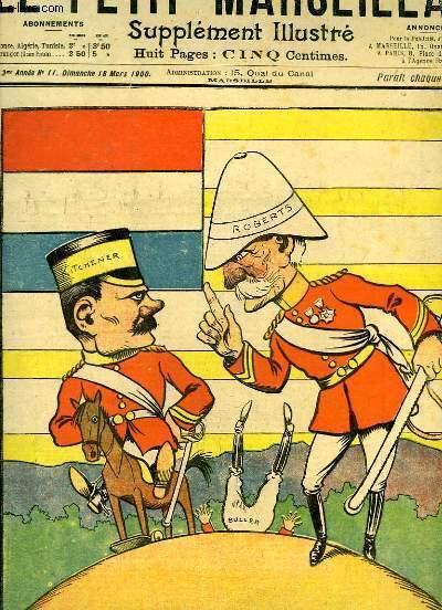 Le Petit Marseillais, supplément illustré N°11 - 3ème année : Au Transvaal - Grands Concours de chansons, airs populaires ...