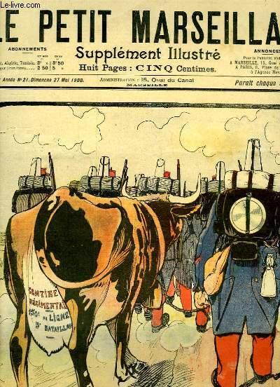 Le Petit Marseillais, supplément illustré N°21 - 3ème année : La Lutte contre l'Alcoolisme, par O'GALOP - La Réponse de Kruger, par GOG ...