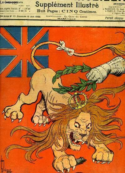 Le Petit Marseillais, supplément illustré N°23- 3ème année : Honneur à l'Angleterre, par LEBEGUE - Discours d'inauguration sur la Nouvelle Comédie Française, par GOG ...