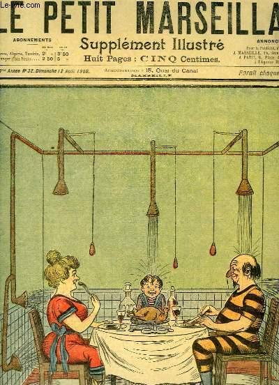 Le Petit Marseillais, supplément illustré N°32 - 3ème année : La Fraicheur des Repas, par G'RI - On est prié de ne pas cracher, par GOG