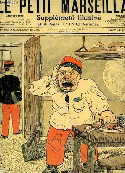 Le Petit Marseillais, supplément illustré N°42 - 3ème année : Le Soldat Ducarreau, par LEBEGUE et GUENIN - Histoire Cynégétique, par GOG et Henri YAN