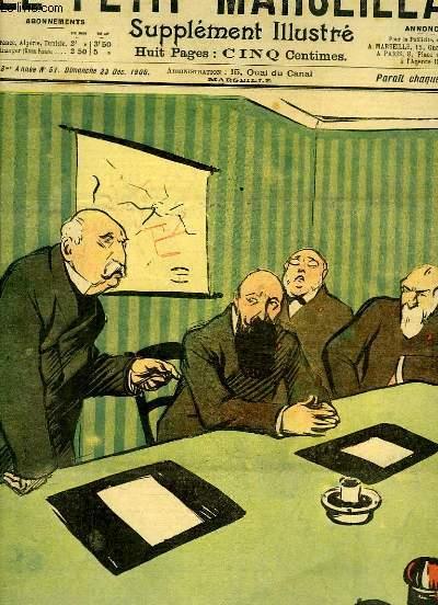 Le Petit Marseillais, supplément illustré N°51 - 3ème année : Au conseil de la Compagnie des Chemins de Fer Centre-Sud, par HERMANN-PAUL - Légitime Curiosté, par BAC