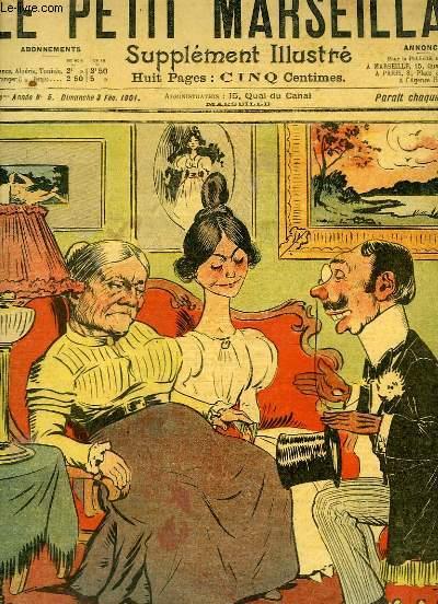 Le Petit Marseillais, supplément illustré N°5 - 4ème année : Demande en mariage, par LEBEGUE - Dessin de COCO