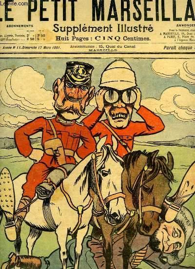 Le Petit Marseillais, supplément illustré N°11 - 4ème année : La course après ce fameux Dewet, par LEBEGUE - Les vacances de Pâques du fantassin Bobillon