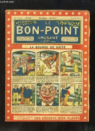 Le Bon-Point amusant N°540 - 12ème année : La source de gaieté.