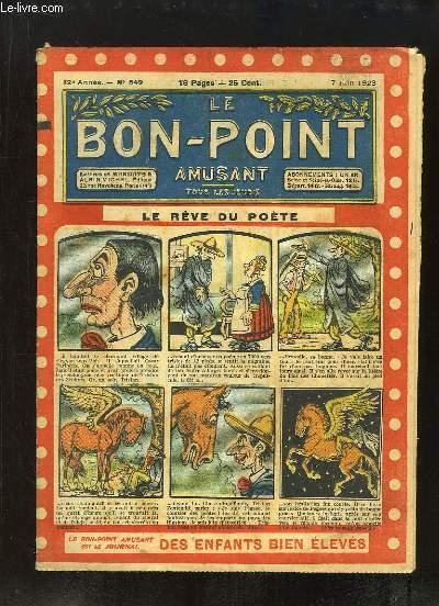 Le Bon-Point amusant N°549 - 12ème année : Le Rêve du Poète