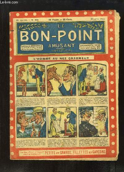 Le Bon-Point amusant N°551 - 12ème année : L'homme au nez charmeur.
