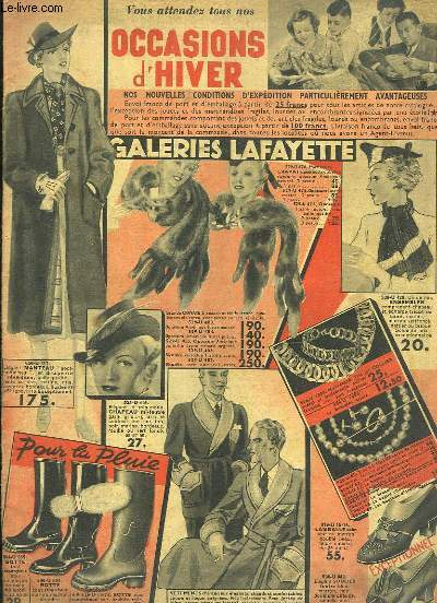 Catalogue des Occasions d'Hiver, 1938