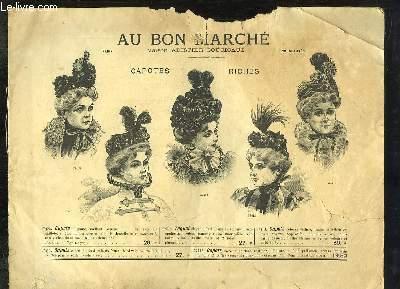 Catalogue de Chapeaux, Capotes, Bérets et Canotiers, Au Bon Marché