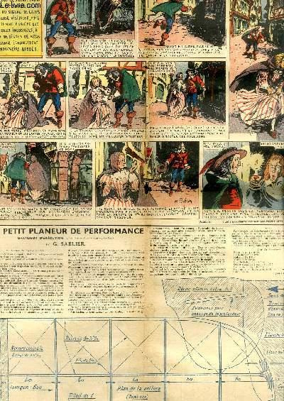 L'Epatant, Nouvelle Série N°22 : Les Aventures des Pieds-Nickelés -  Plan d'un Petit Planeur de Performance (suite) ...