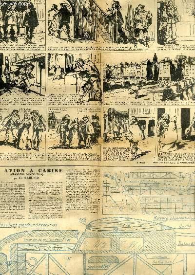 L'Epatant, Nouvelle Série N°23 et 24 : Plan d'un Avion à Cabine (grandeur d'exécution)
