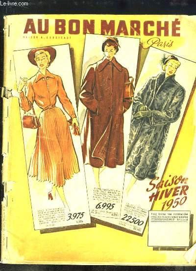 catalogue au bon march saison hiver 1950 au bon marche maison aristide boucicaut. Black Bedroom Furniture Sets. Home Design Ideas
