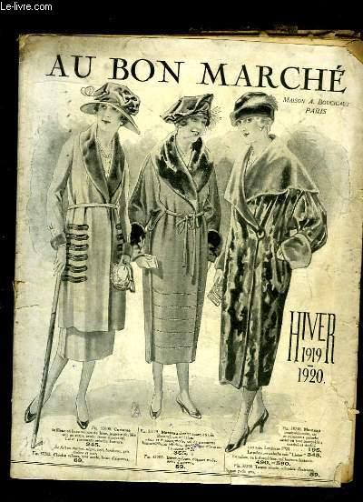 Catalogue Hiver 1919 - 1920, des Magasins
