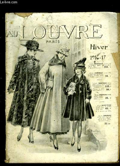 Catalogue Hiver 1916 - 17, des Magasins