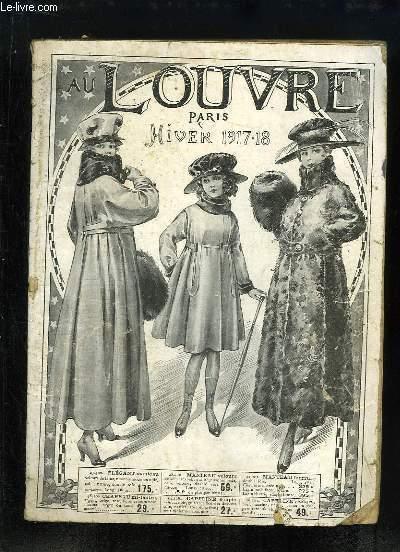 Catalogue Hiver 1917 - 1918, des établissements