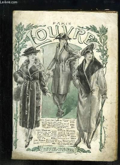 Catalogue de vêtements de l'Hiver 1919 - 1920 des Magasins