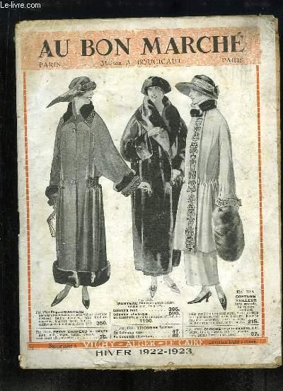 Catalogue de Vêtements et Accessoires, d'Hiver 1922 - 1923, des établissements