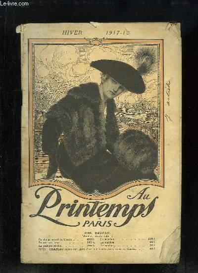 Catalogue de Vêtements de l'Hiver 1917 - 1918, des Magasins