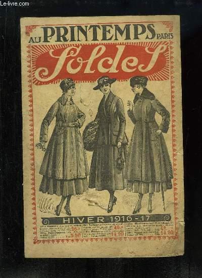 Catalogue des Soldes d'Hiver 1916 - 17, des Magasins
