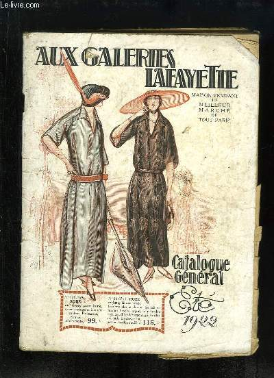 Catalogue Général de l'Eté 1922, des Galeries Lafayette