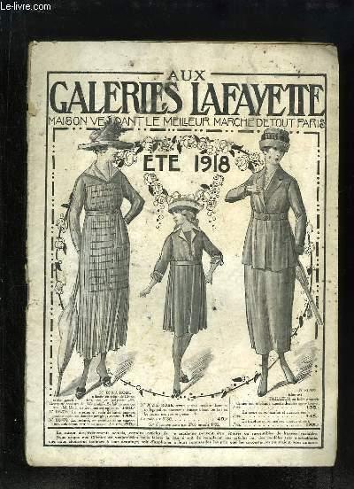 Catalogue de Vêtements et Accessoires de l'Eté 1918, des Galeries Lafayette