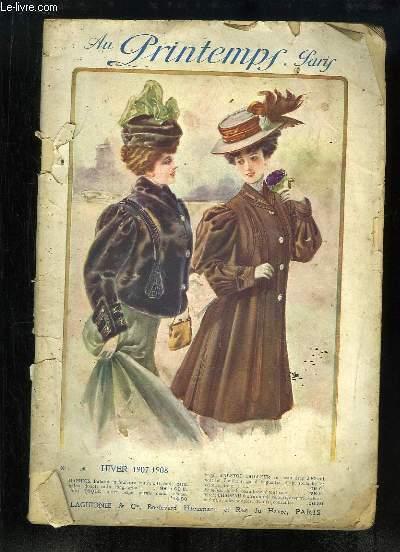 Catalogue de Vêtements de l'Hiver 1907 - 1908, des Magasins